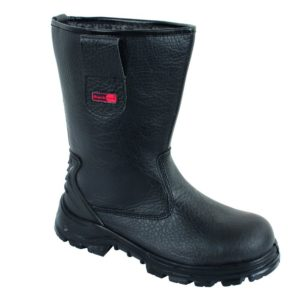 cheap black rigger boots